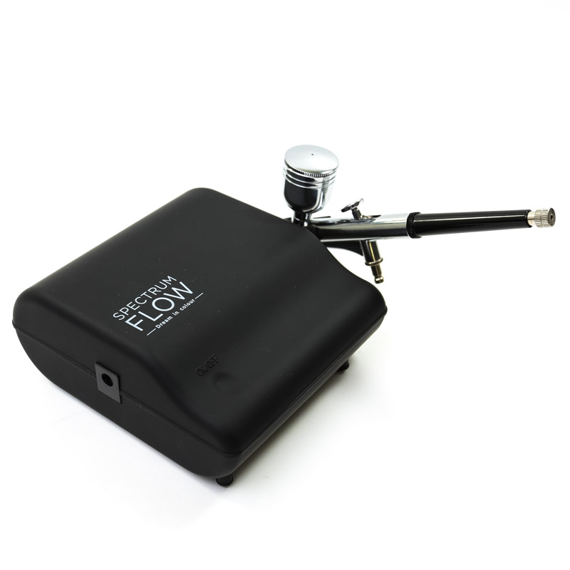 SPECTRUM FLOW Airbrush and Compressor Set