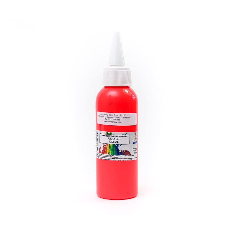 100ml Rolkem Gel Lumo Paint - CORAL