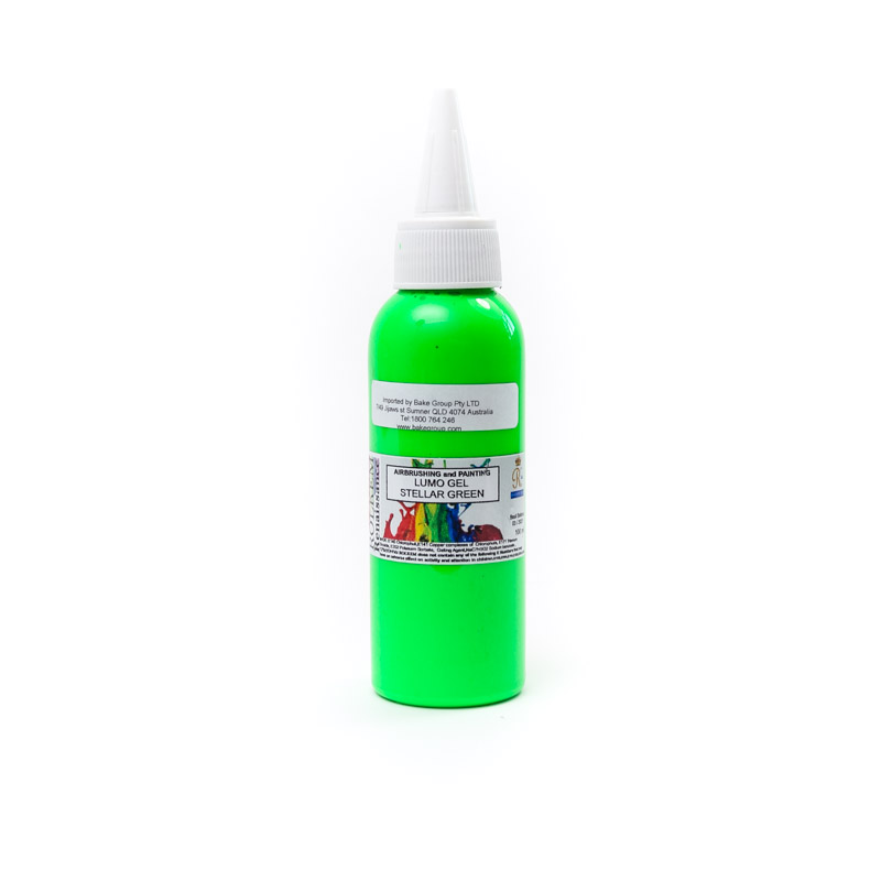 100ml Rolkem Gel Lumo Paint - STELLAR GREEN