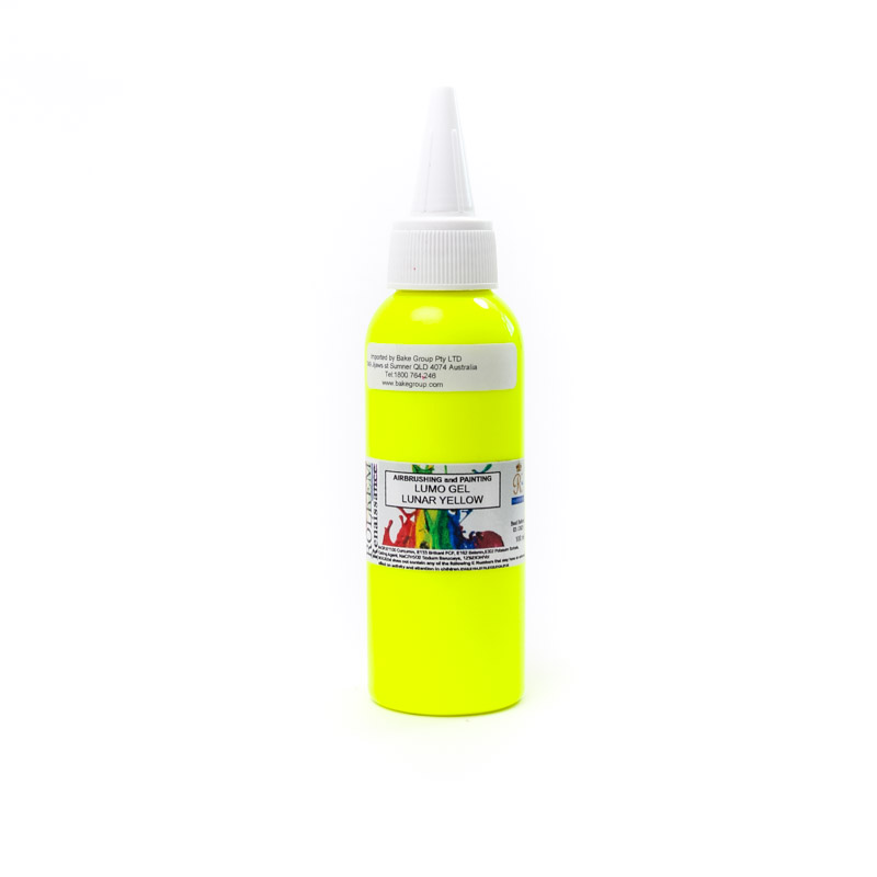 100ml Rolkem Gel Lumo Paint - LUNAR YELLOW