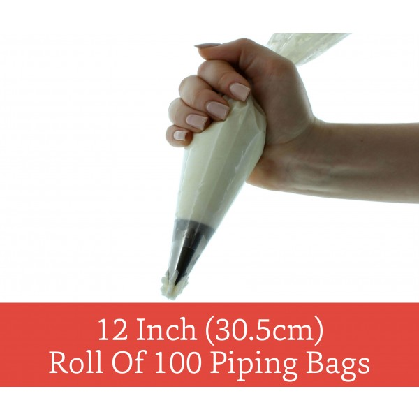 12 Disposable Piping Bags (Pack of 10) - by Sugar Crafty