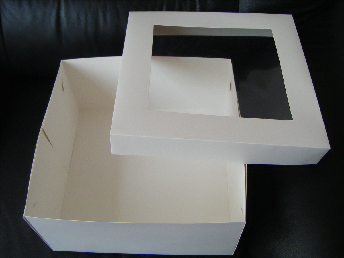 16 x 14 Slab Cake Box with PVC Window - 6 High