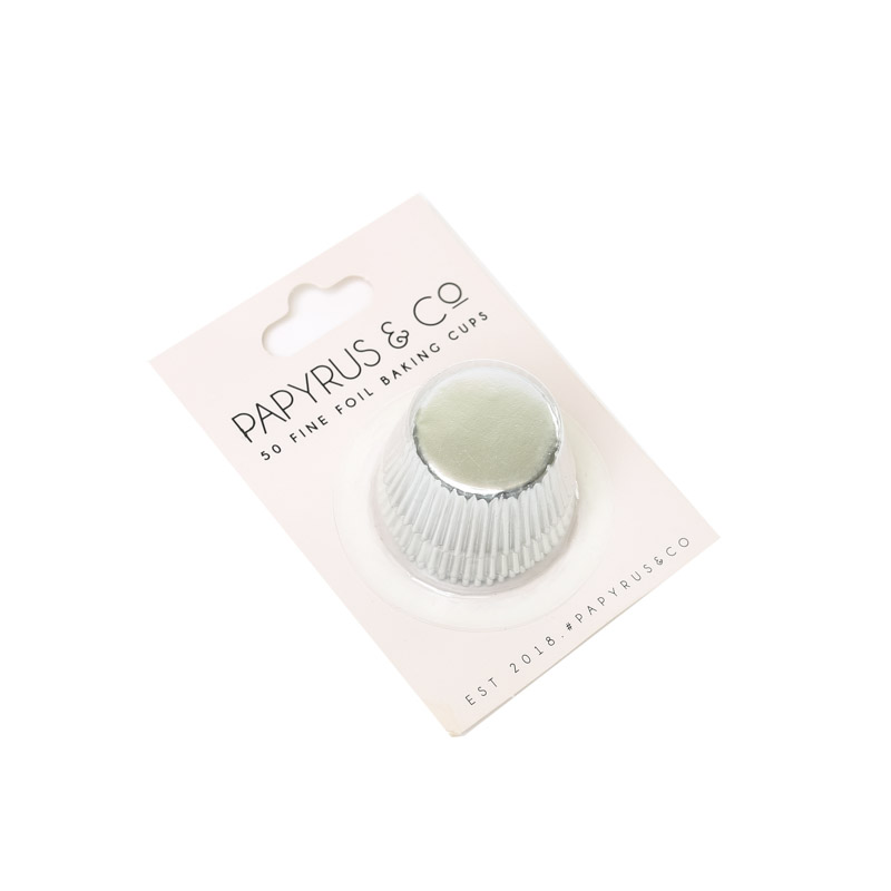 Mini SILVER Foil Baking Cups (50 pack)