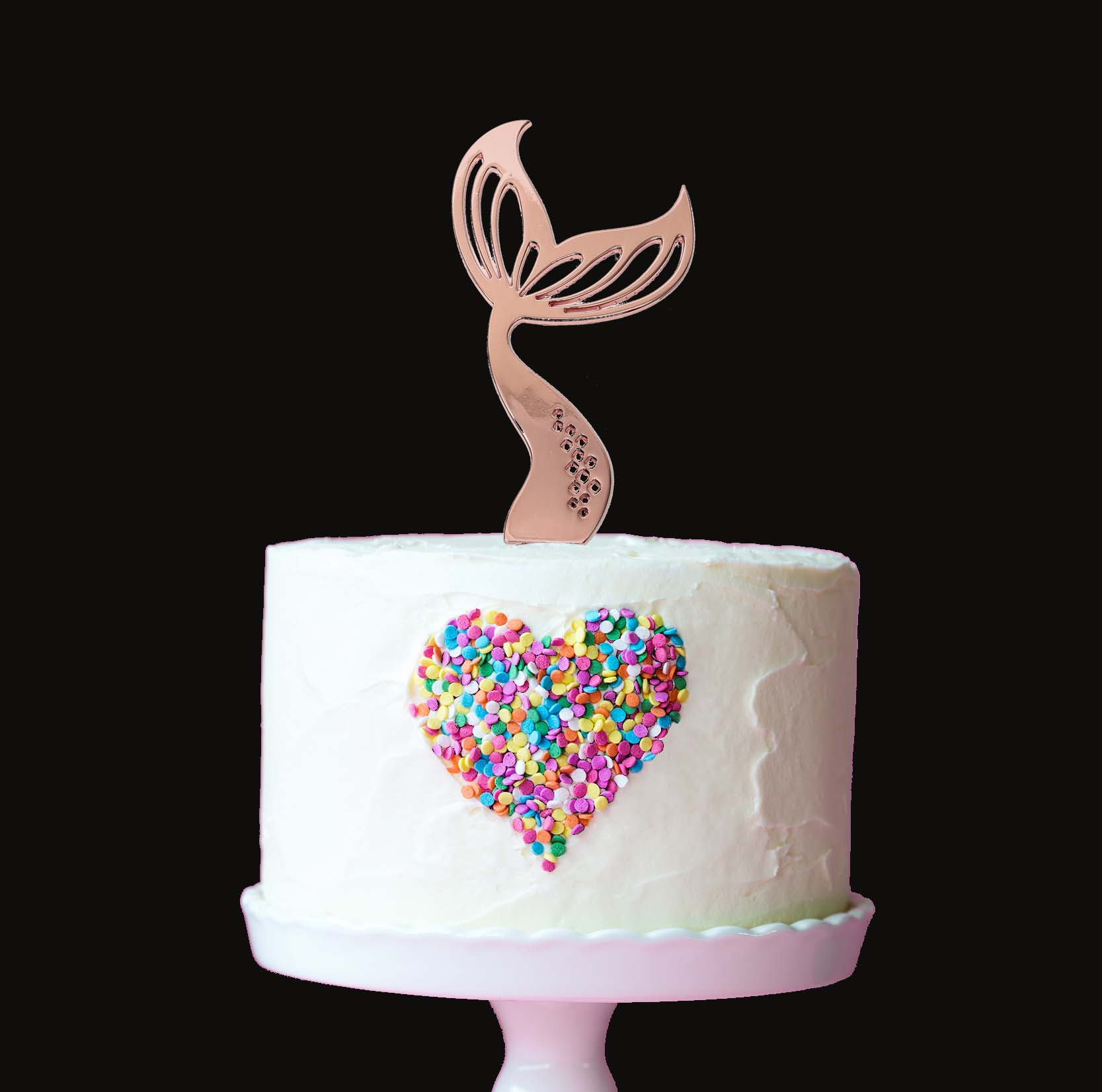 ROSE GOLD Plated Cake Topper - MERMAID TAIL