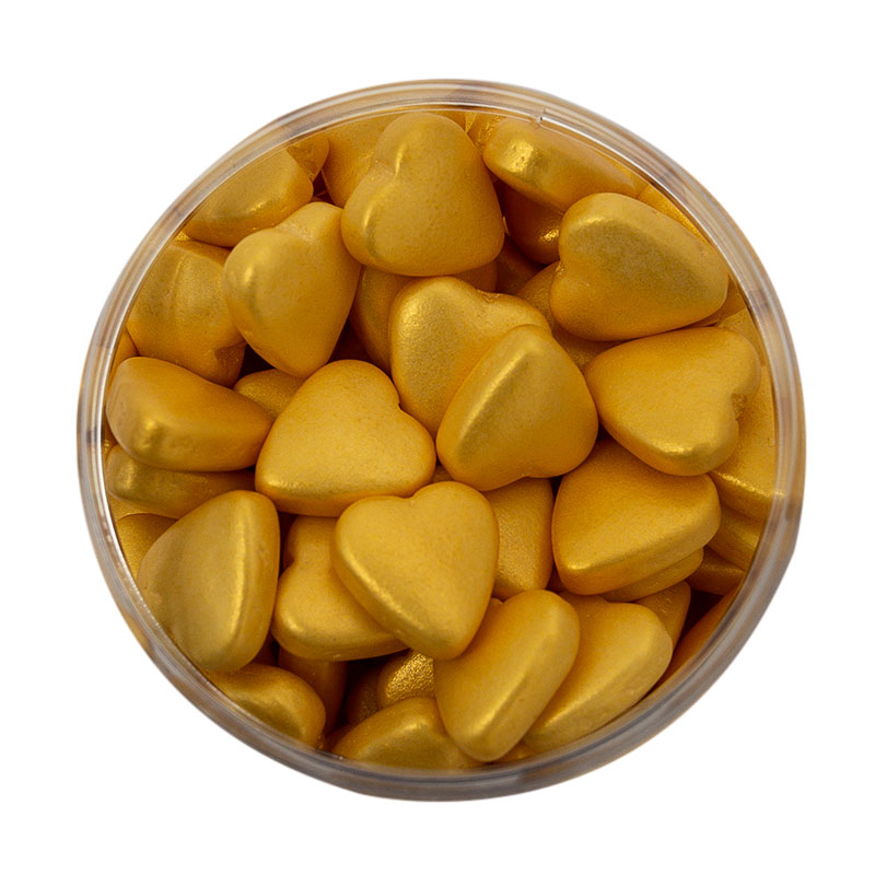 GOLD Hearts (85g) - by Sprinks