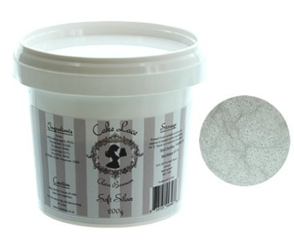 Cake Lace Pre Mix SOFT SILVER 200g - by Claire Bowman