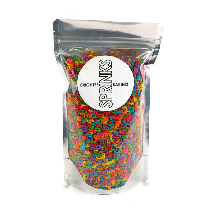 450g MIXED NUMBERS Sprinkles - by Sprinks