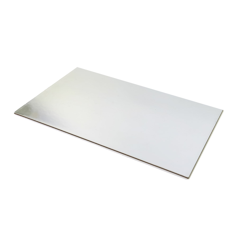 SILVER FOIL Cake Card Board - 1/2 SLAB RECTANGLE (42cm x 38cm)