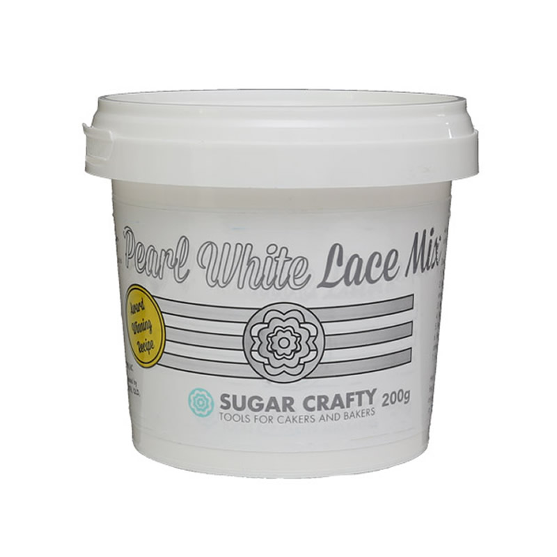 Sugar Crafty PEARL WHITE Lace Mix 200g