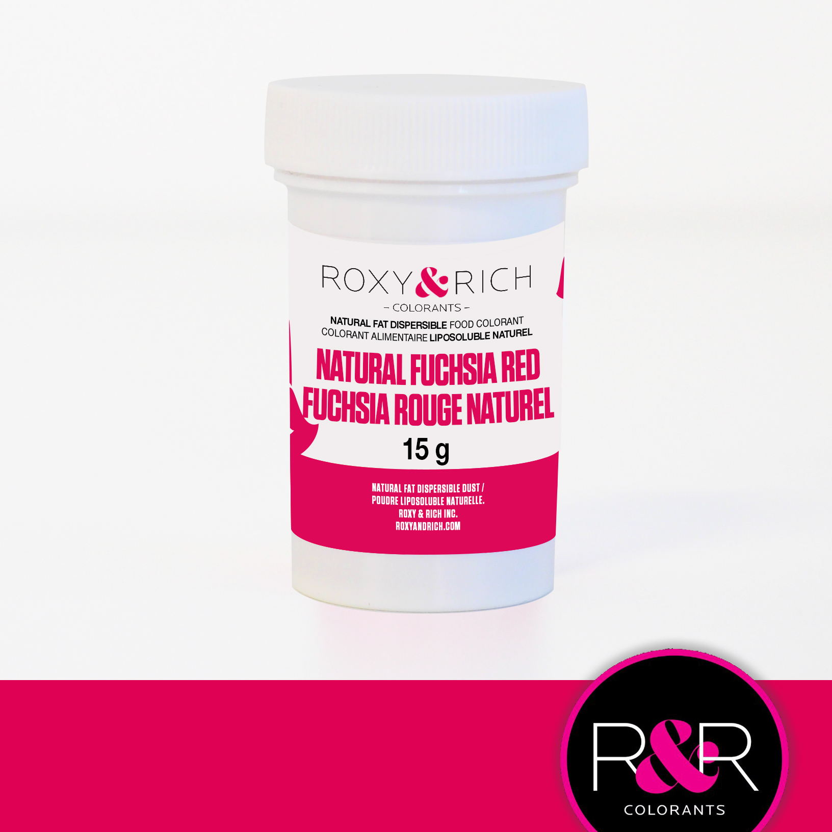 FUCHSIA RED Fat Dispersible Natural Food Colouring 15g - ROXY & RICH ** Best Before Date: January 2019**