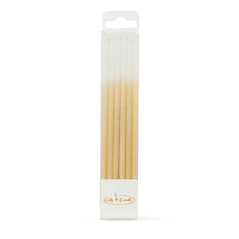 OMBRE Cake Candles GOLD (Pack of 12)