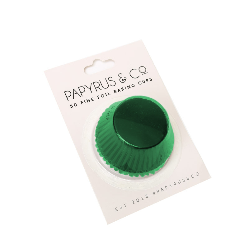 Medium GREEN Foil Baking Cups (50 pack) - 44mm Base