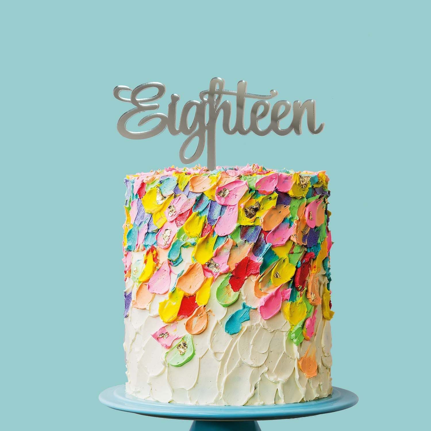 Number EIGHTEEN Cake Topper (MIRROR)