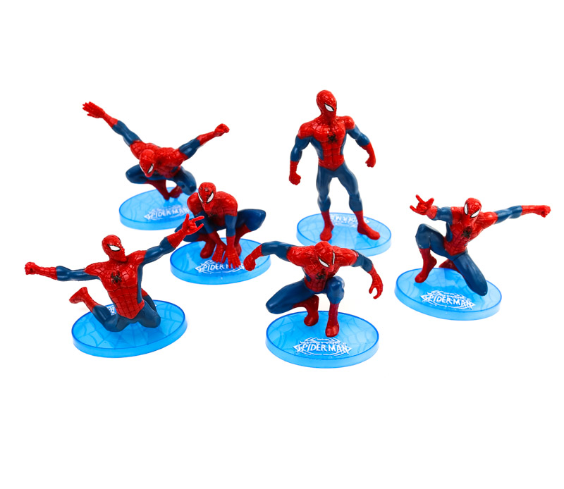 Cake Toppers - SPIDERMAN  (7 Pieces)