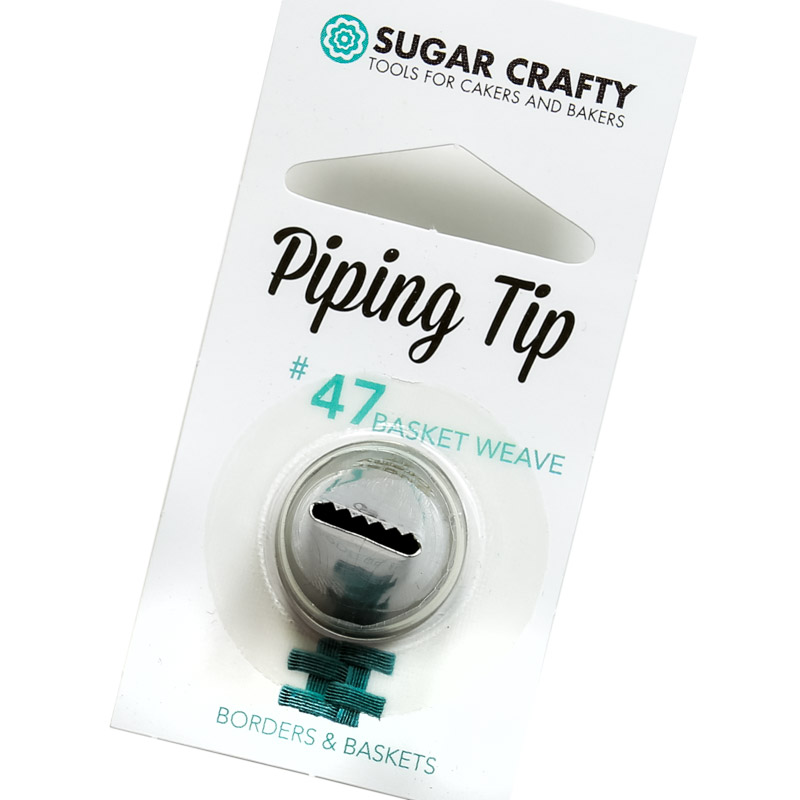 Sugar Crafty Basket Weave Icing Tip 47
