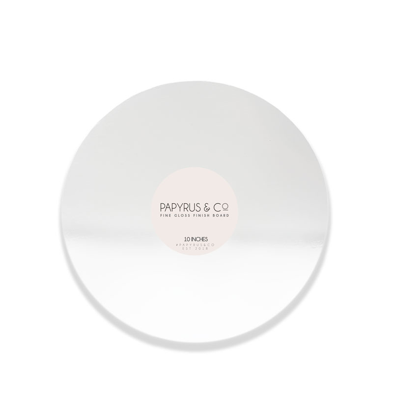 GLOSS WHITE 10 Round Masonite Cake Board