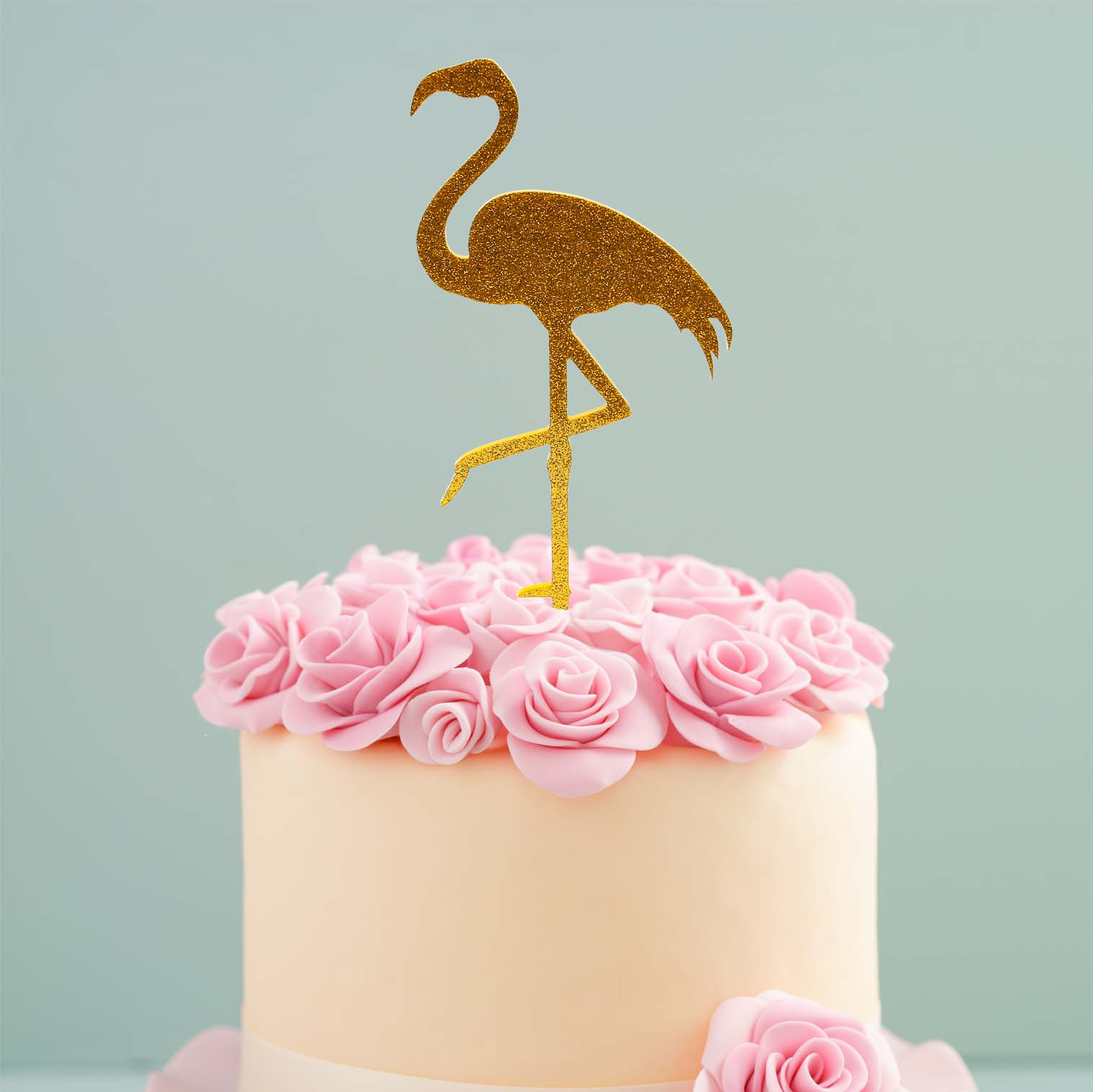 FLAMINGO Cake Topper (Gold)