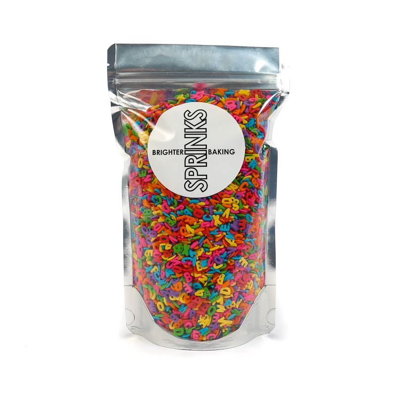 450g MIXED ALPHABET Sprinkles - by Sprinks