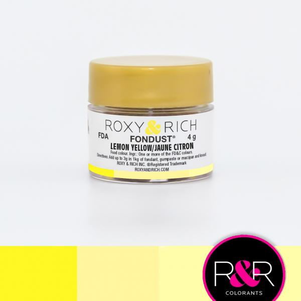 LEMON YELLOW Fondust Dusting Colour 4g - ROXY & RICH