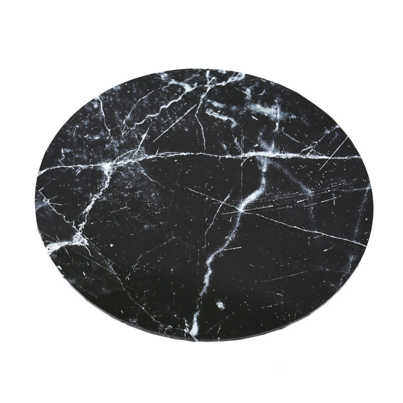 Food Presentation Board (BLACK MARBLE) - 14 ROUND