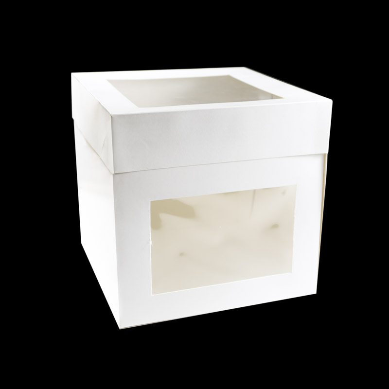 Tall Cake Box with TOP & SIDE Window 8 inch