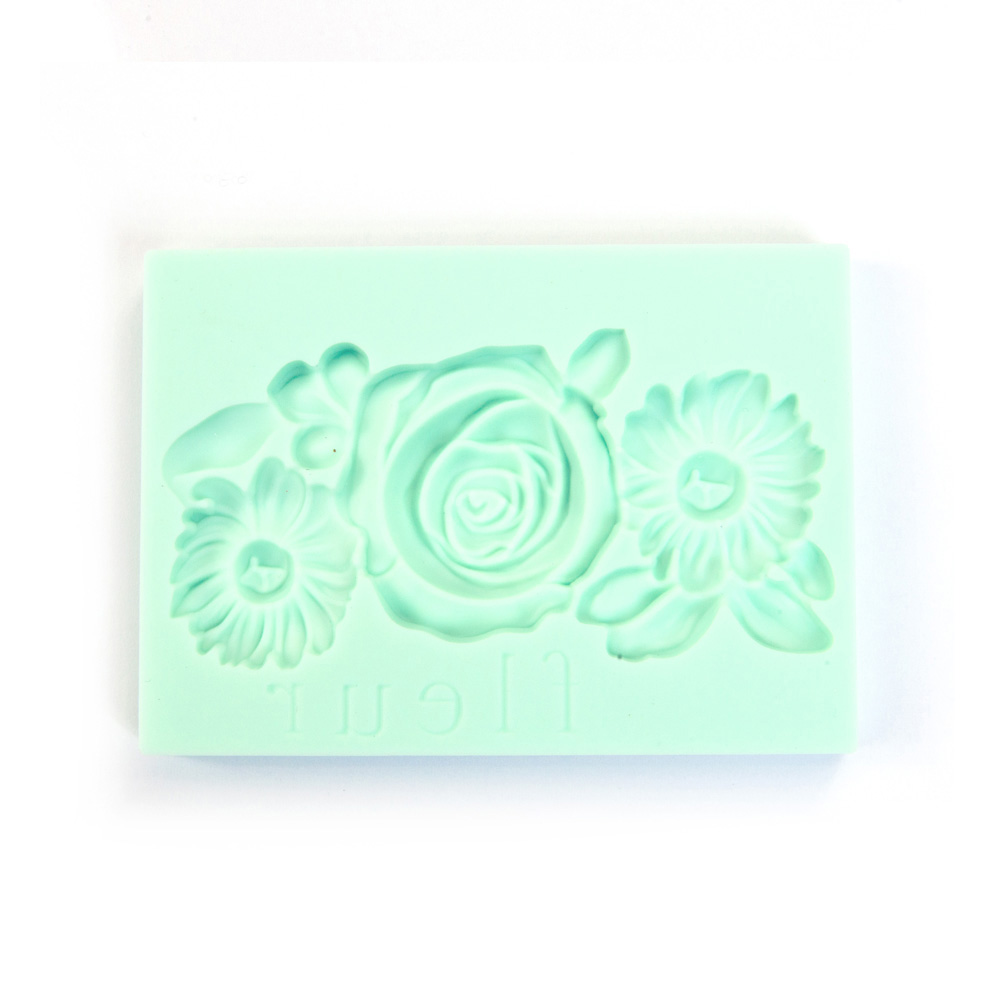 Decor Art Décor Mould - FLEUR 1 2.5 x 3.5