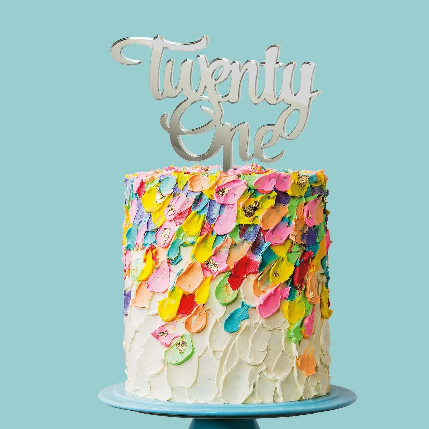 Number TWENTY ONE Cake Topper (MIRROR)