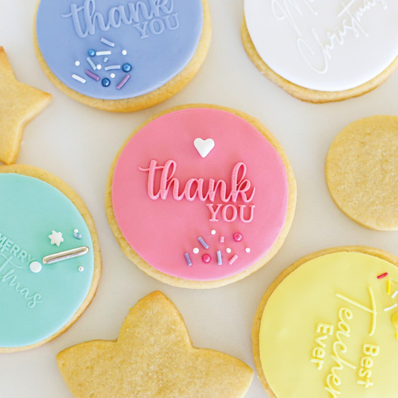 Cookie Embosser Stamp - THANK YOU