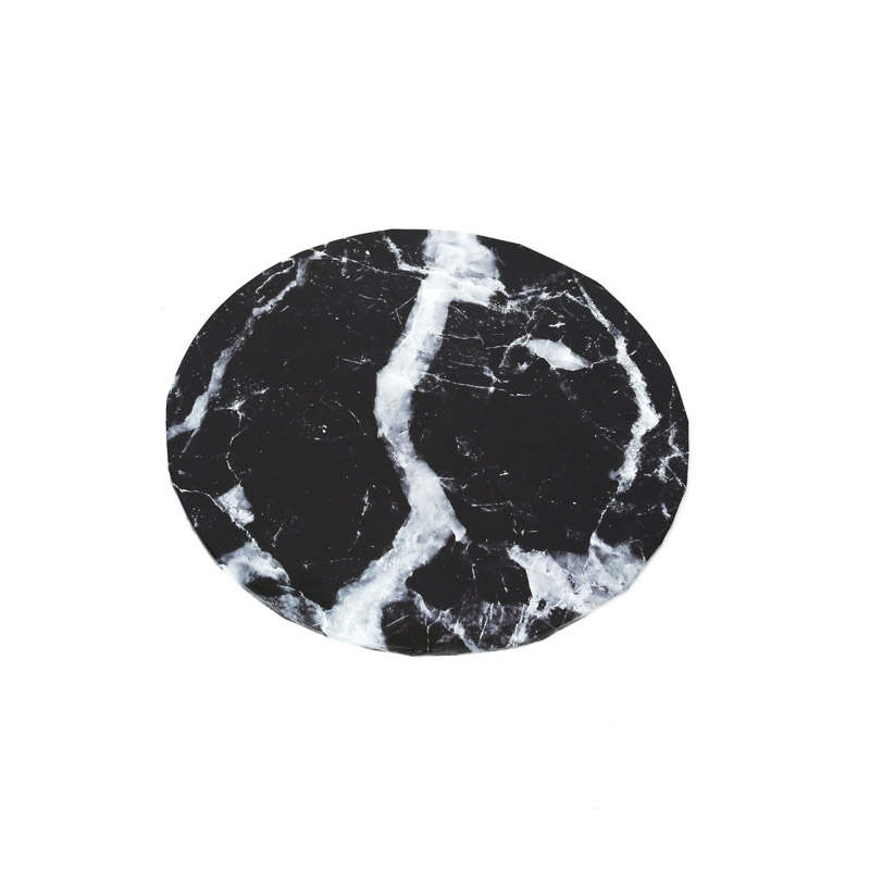 Food Presentation Board (BLACK MARBLE) - 10 ROUND