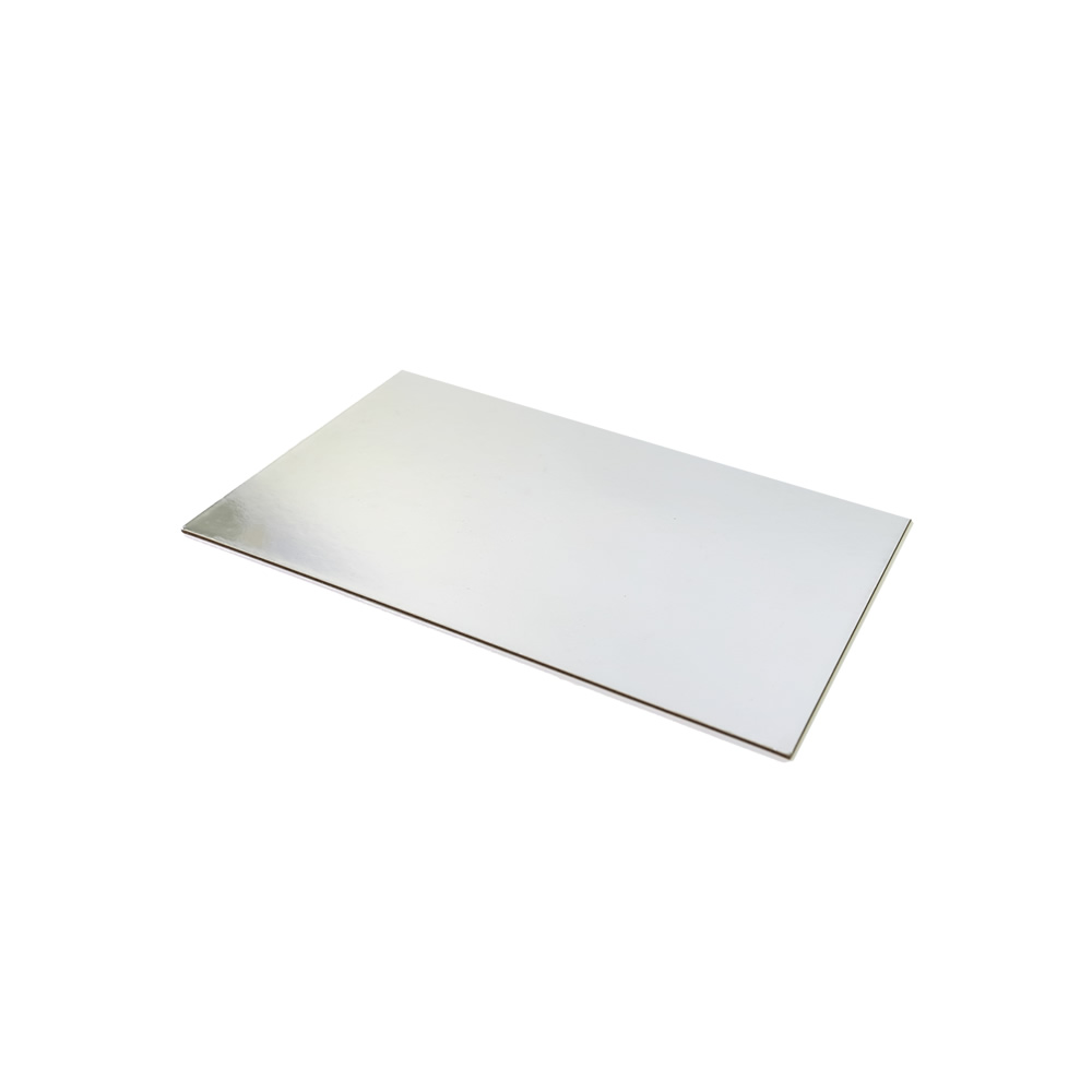 SILVER FOIL Cake Card Board - 12 x 8 RECTANGLE
