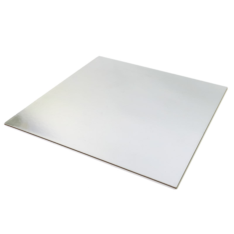 SILVER FOIL Cake Card Board - 6 SQUARE