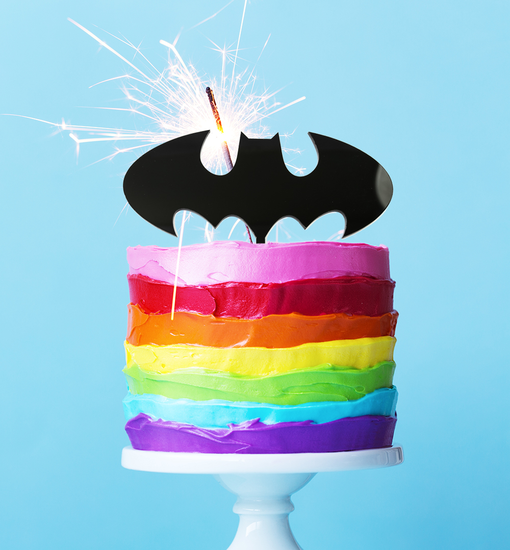 BATMAN Logo Cake Topper (Black)