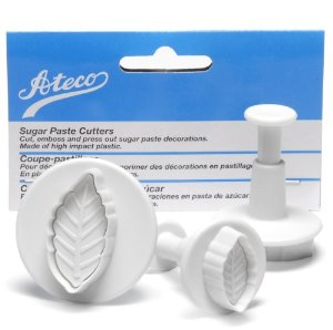 ATECO Leaf Plunger Cutter - 3 Pieces