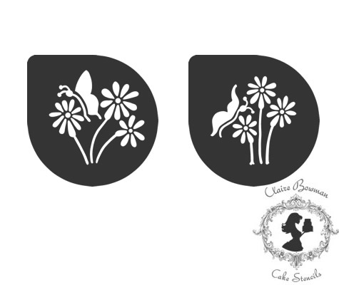 BEATRICE BUTTERFLIES (SET OF 2) Stencil - by Claire Bowman