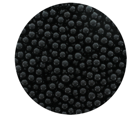 Cachous Round - BLACK 8mm (1kg)