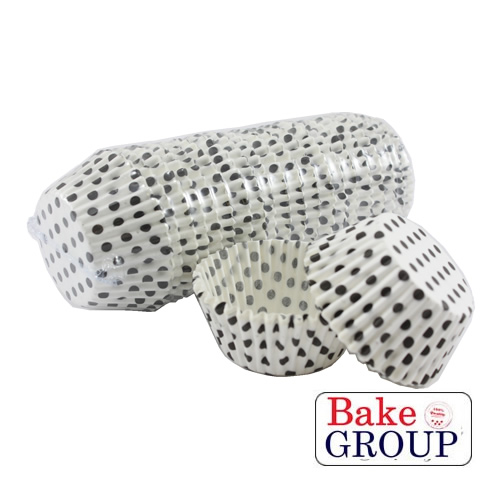 BLACK POLKA DOT Baking Cups - 500 pack