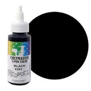 Chefmaster Oil Based Candy & Chocolate Food Colouring - BLACK (2oz)