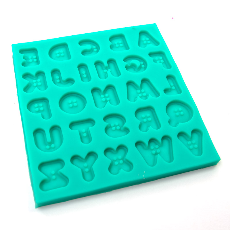 Silicone Mould - BUTTON ALPHABET