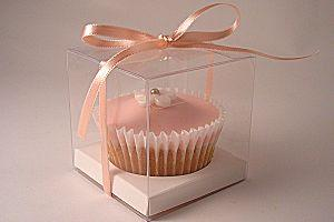 PVC Cupcake Box with White Insert (Single cupcake)