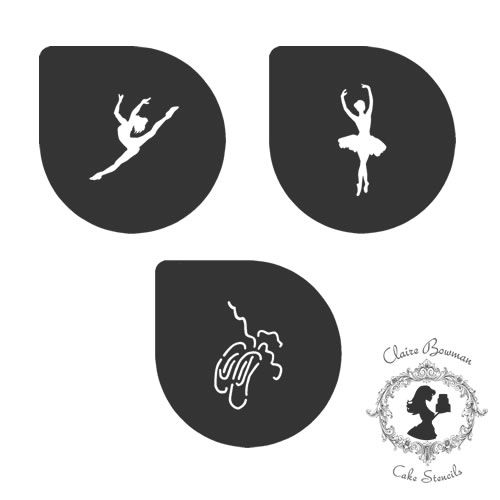 DARCY BALLERINA (SET OF 3) Stencil - by Claire Bowman