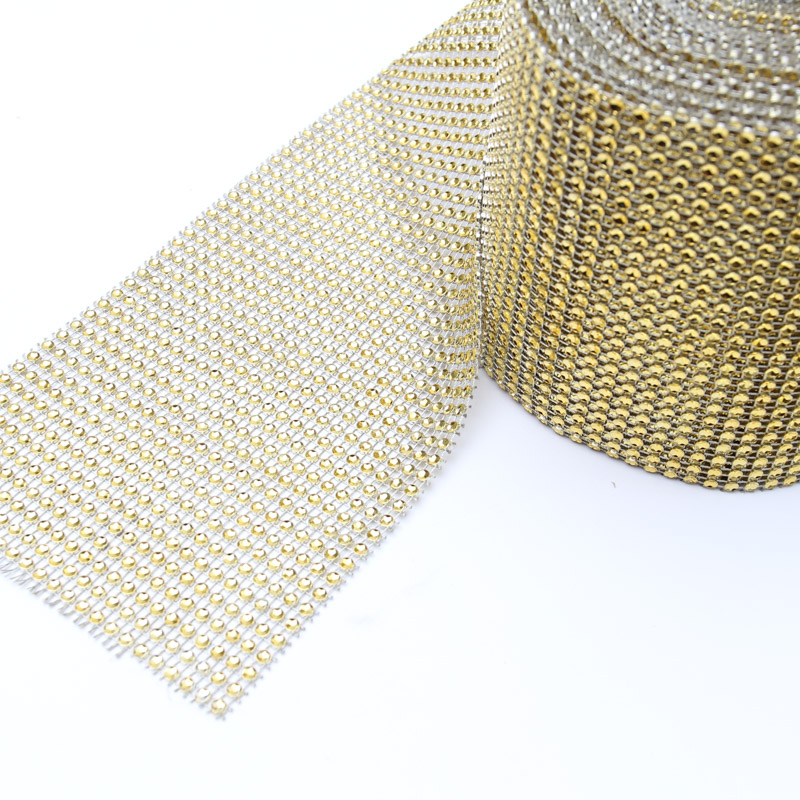GOLD MESH Roll - 11.5cm by 9m
