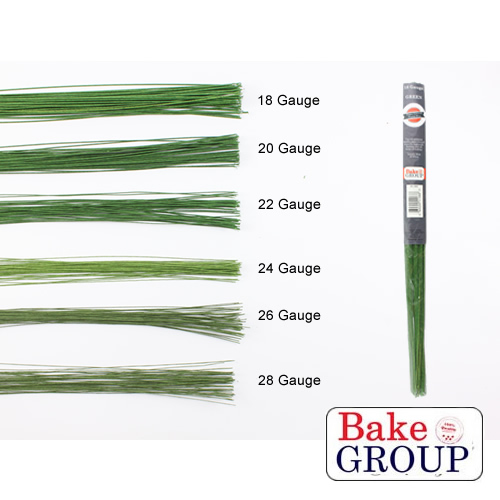 Flower Wire 28 Gauge - DARK GREEN | Bake Group