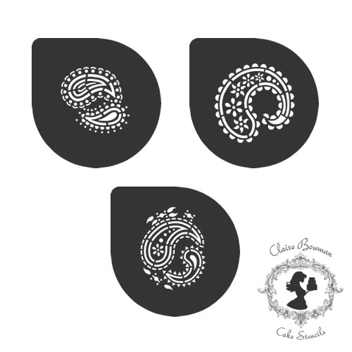 PERFECT PAISLEY PATTERN (SET OF 3) Stencil - by Claire Bowman