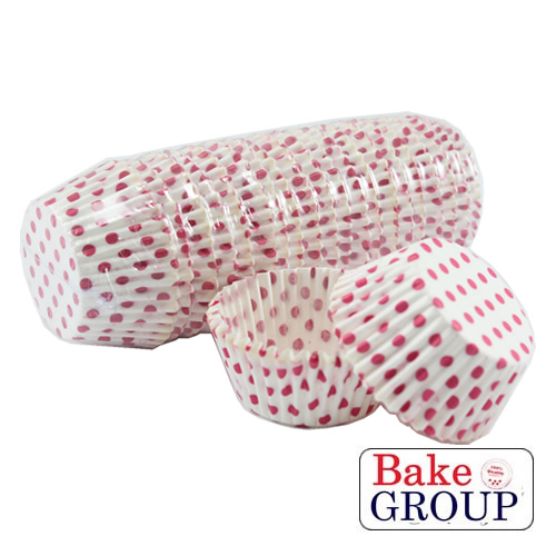 PINK SPOTTY Baking Cups - 500 pack