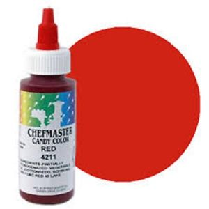 Chefmaster Oil Based Candy & Chocolate Food Colouring - RED (2oz)
