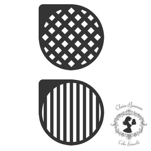 SASHA STRIPES & DIAMONDS (SET OF 2) Stencil - by Claire Bowman