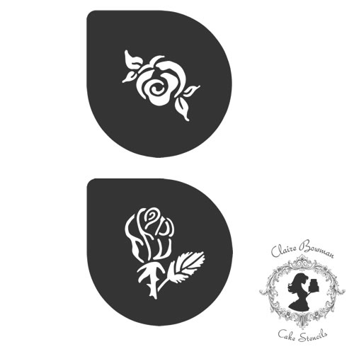 SCARLETT ROSES (SET OF 3) Stencil - by Claire Bowman