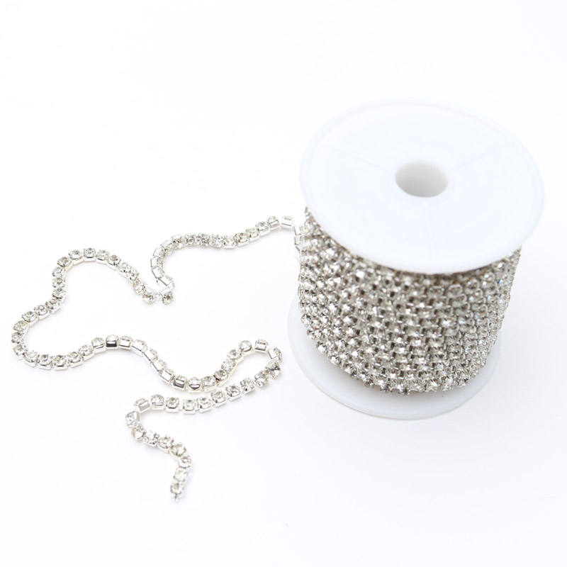 SILVER Diamante Chain - 3.5mm by 9.5m