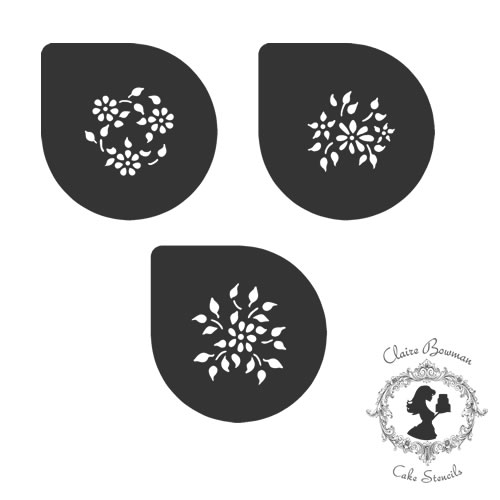 SOPHIA FLOWERS (SET OF 3) Stencil - by Claire Bowman