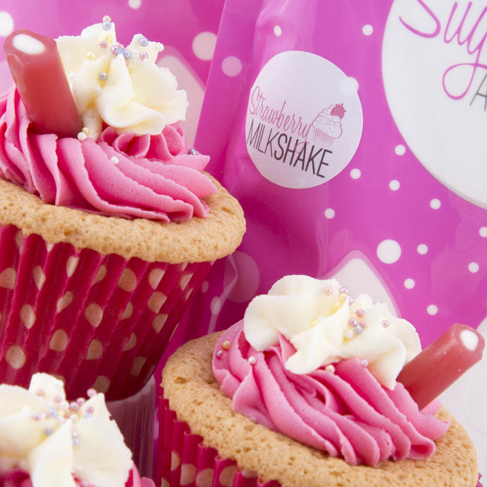 STRAWBERRY MILKSHAKE Natural Flavoured Icing Sugar (250g)**